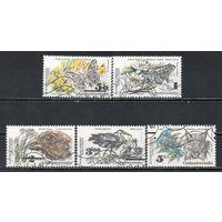Охрана природы Чехословакия 1983 год 5 марок