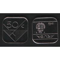 Аруба _km4 50 центов 1995 год (ba) (b06)