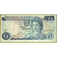 Джерси 1 фунт 1976г