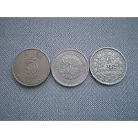 Азия 3 монеты одним лотом