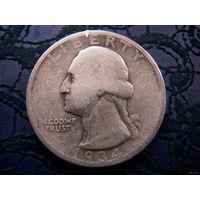США, 1/4 доллара - Вашингтон квотер, 1934 г., серебро