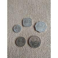 Шри Ланка 1978 набор 5 монет UNC