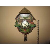 Часы ходики Шварцвальдские часы Германия средина 20-го века.