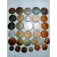 24 монеты Испании и Италии с рубля .