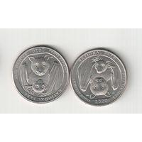 Квотер (25 центов) 2020 года (Р) Нциональный парк Американское Самоа 30
