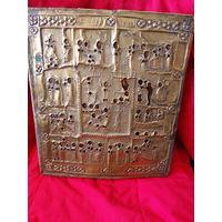Икона Старинная В Окладе   с рубля Аукцион
