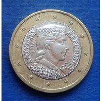 Латвия 1 евро 2014