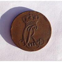 1 сехслинг (зехслинг) 1787 год Дания Шлезвиг-Гольштейн Кристиан VII