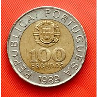 03-23 Португалия, 100 эскудо 1989 г.