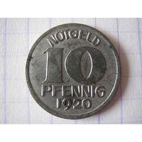 20 пфеннингов 1920 г., нотгельд.