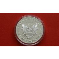 1 Доллар -*-США- 2000г.-*-пруф-посеребрение-капсула-