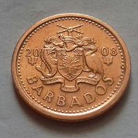 1 цент, Барбадос 2008 г., AU
