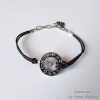 Браслет мини Часы (коричневый)
