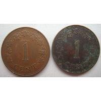 Мальта 1 цент 1972, 1977 гг. Цена за 1 шт. (g)