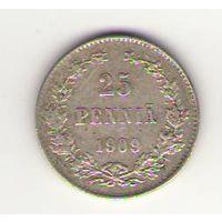 25 пенни 1909 год_состояние VF/XF