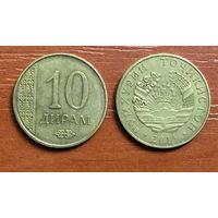 Таджикистан, 10 дирамов 2015