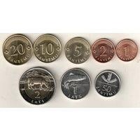 Латвия набор 8 монет