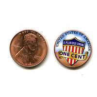США 2010 ЦВЕТНОЙ цент LINCOLN SHIELD CENTS (ЩИТ) UNС