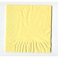 Салфетка для декупажа. Простая, желтого цвета. Лимонный. 33х33 см