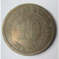 Германия. 10 пфеннигов 1888 J.  2-94