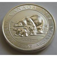 "Канада 2015 серебро (1.5 oz) ""Белый медведь"""