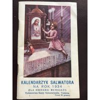 KALENDARZYK SALWATORA 1934r.