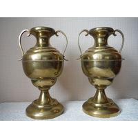 Две латунные вазы Германия выс. 26,5 см