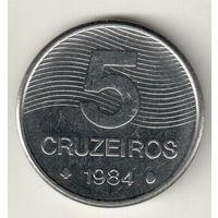 Бразилия 5 крузейро 1984