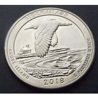 США. 25 центов 2018. Block island /s/