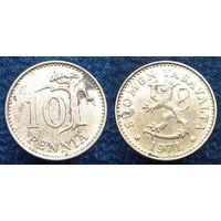 W: Финляндия 10 пенни 1971 (1131)