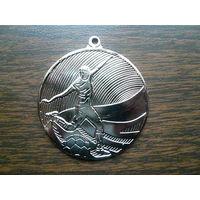 "Медаль спортивная наградная. Футбол. ""Серебро"" или 2 место. ТМ. D=50 мм. G=2,5 мм."
