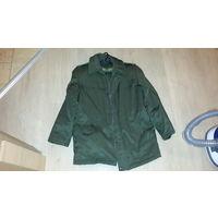 Бушлат куртка, оливковый, зимний, с воротником, практически не ношен. Размер 46-3, 170-92-80