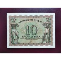 Греция 10 драхм 1944 UNC