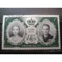 Монако 1956 Свадьба князя Ренье 3  1фр