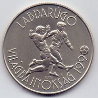 Венгрия, 100 форинтов 1988 года. Футбол, ЧМ 1990 года.