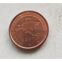 1 евроцент 2011 Эстония