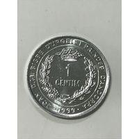 1 сентим, 1999 г., Андорра