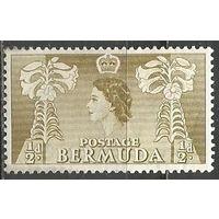 Бермуды. Королева Елизавета II. Лилии. 1953г. Mi#130.