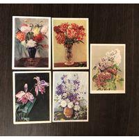 Открытки Цветы 1958-1959 год Цена за все подписаны