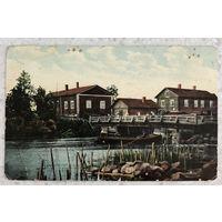 Открытка Финляндия посёлок Силтала, общины Руовеси, датирована в письме - 1910 г.