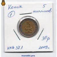 Кения 5 шиллингов 2009 года.