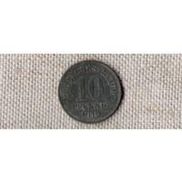 Германия 10 пфеннигов 1919