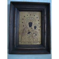 Старинная чудотворная Ченстоховская икона Божией Матери. Вторая половина 19-го века.(2).