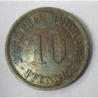 Германия. 10 пфеннигов 1914 F. 1-75