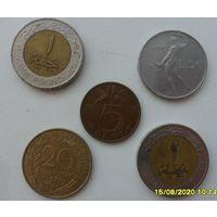 Набор монет 6 /цена за все/