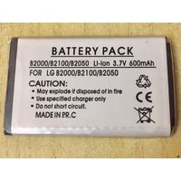 Новый аккумулятор 600 maH 3.7В. Для LG B2000 B2100 B2050. Литий-ионный. Батарея АКБ. 600maH маЧ, 3.7 V В