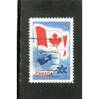 Канада.Ми-397.Флаг и планета Земля. Серия: Канадское столетие.1967.