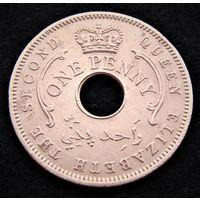 Нигерия.  1 пенни 1959 год  KM#2