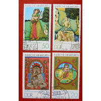 ГДР. Индийские миниатюры. ( 3 марки ) 1979 года.