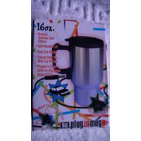 Кружка-термос металлическая ( с проводом к прикуривателю 12 в ) распродажа